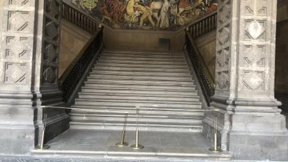 restringen espacios en palacio nacional
