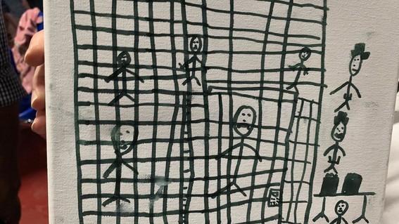 dibujos de ninos migrantes centros de detencion