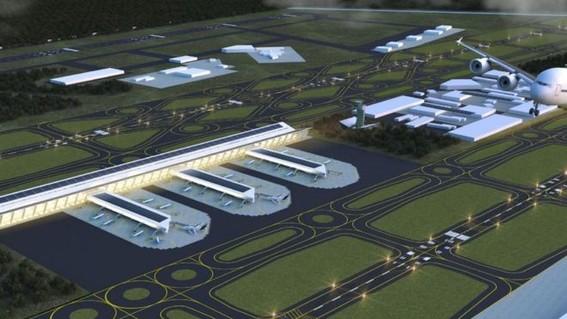 """el presidente dijo que """"el plan b consiste basicamente en que se va hacer el aeropuerto de santa lucia a pesar de los obstaculos de los opositor"""