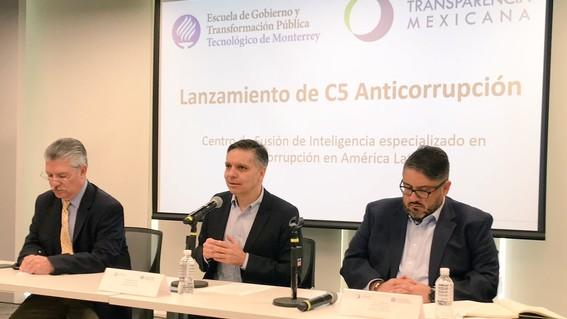 """lanzan transparencia mexicana y tecnologico de monterrey """"c5 anticorrupcion"""""""