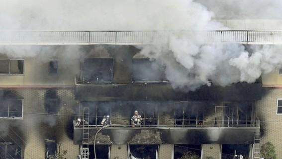 al menos 27 muertos en incendio provocado en estudio de anime
