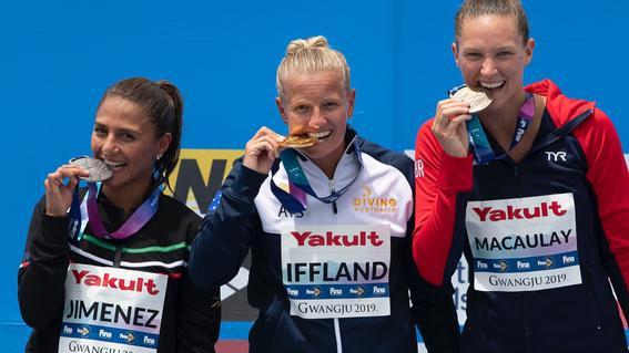 ¡adriana jimenez gana medalla de plata en mundial de natacion