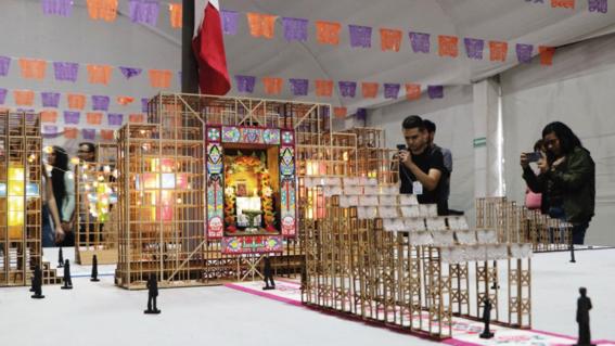 """el proyecto """"altar de altares"""" disenado por vladimir maislin fue el ganador para representarse en el zocalo de la ciudad de mexico el proximo dia"""