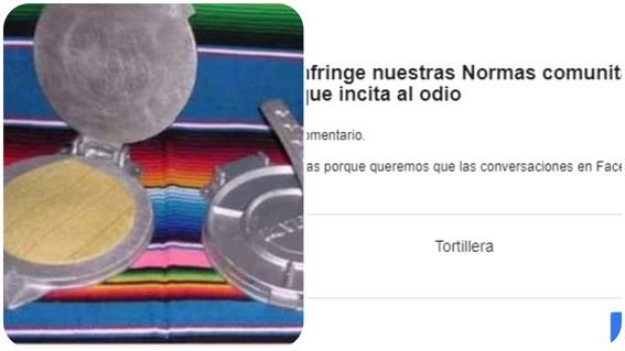 tortillera palabra prohibida por facebook