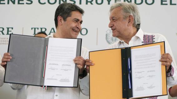 amlo anuncia acuerdo para crear 20 mil empleos en honduras