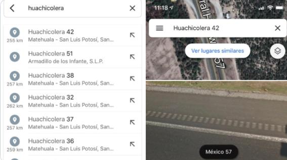 google maps huachicoleras