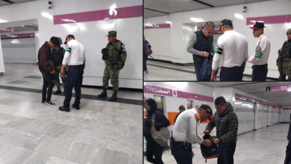 los elementos de la guardia nacional realizaron acciones de proteccion y patrullaje en nueve estaciones del sistema de transporte colectivo metro
