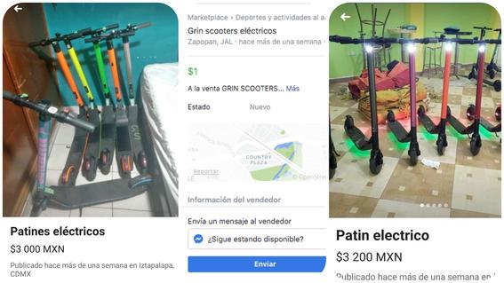venden scooters patines electricos robados en facebook