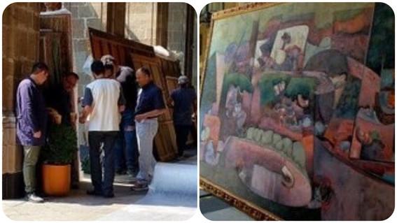 sacan obras de arte palacio nacional