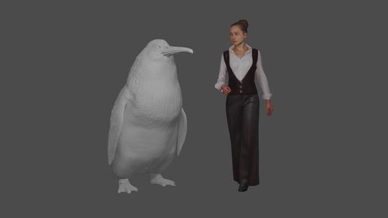 pingüino gigantefosil
