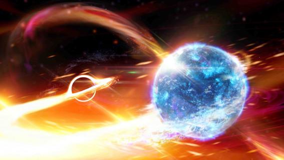 un grupo de cientificos detecto por primera vez un agujero negro tragandose a una estrella de neutrones