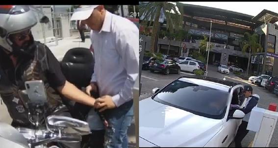 los asaltantes aprovechan el alto que realizan conductores en las entradas de estacionamientos publicos para despojarlos de sus pertenencias