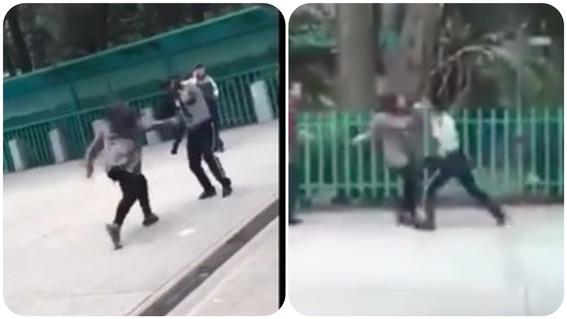 guardia mujeres altercado bachilleres 3 iztacalco