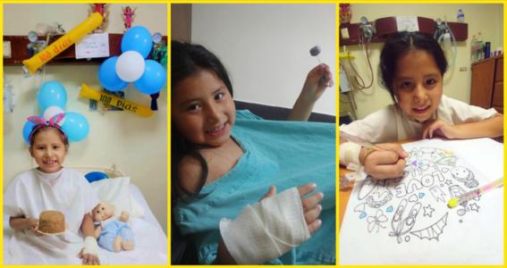 joana tiene 7 anos y junta tapitas para pagar sus quimioterapias