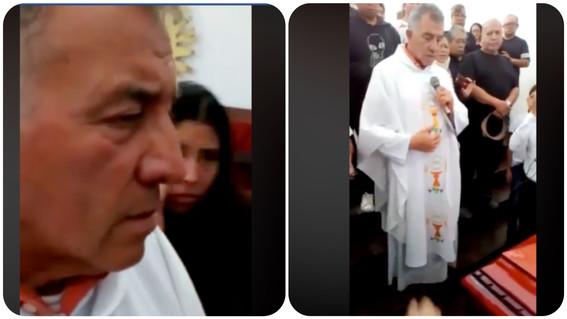 sacerdote se niega a dar bendicion por corrupto