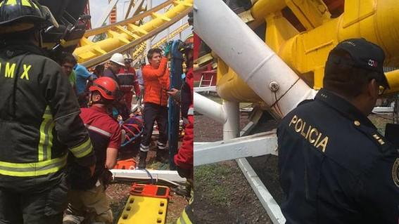por el descarrilamiento de la montana rusa murieron dos personas y varias resultaron heridas en las instalaciones de la feria de chapultepec