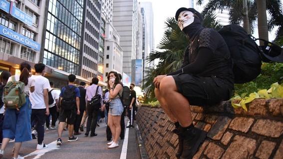 hong kong manifestaciones anti mascara