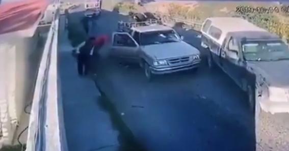 camaras de seguridad captan el secuestro de una familia en puebla