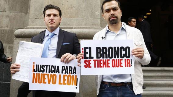 el senador samuel garcia y el secretario general de su partido jorge alvarez maynez presentaron el recurso amicus curiae en contra del fallo a
