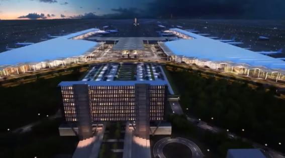 asi es como se vera el nuevo aeropuerto felipe angeles en lo que fue la base aerea de santa lucia