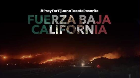 incendios tijuana rosarito ensenada baja california