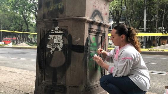 las autoridades atenderan 72 esculturas de proceres con pedestal 62 copones con pedestal y 284 metros lineales de bancas de cantera