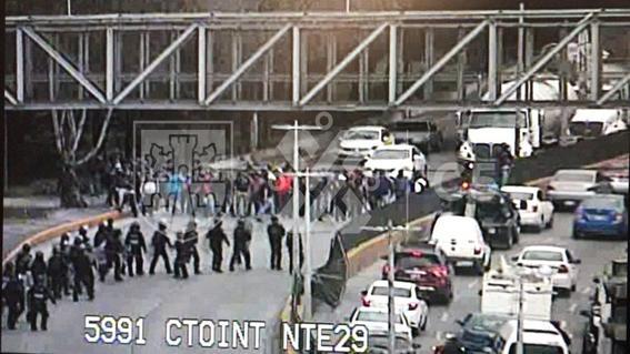 manifestacion policia federal iacm gas pimienta