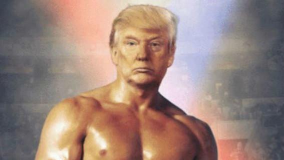 donald trump photoshop rocky balboa