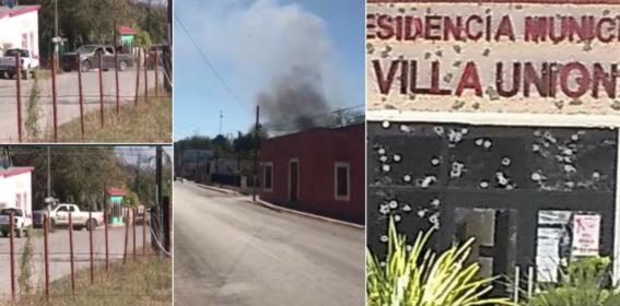 sujetos armados pertenecientes al cartel del noreste habrian atacado edificios publicos y a elementos de seguridad estatal de coahuila