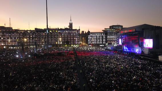 el festival internacional de musica del mundo que reunio a artistas nacionales e internacionales recibio a unas 180 mil personas en el zocalo de