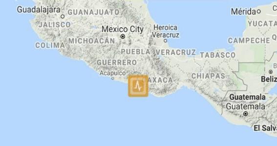 el sismo se origino en el estado de oaxaca a las 822 horas sin que hasta el momento se tengan reportes de victimas