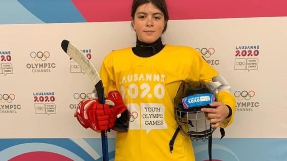 luisa wilson se agencio el oro en el torneo de hockey sobre hielo 3x3 en la cita de lausana 2020; es la primera medalla para mexico en este tipo