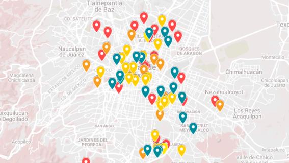 mapa google maps incendios mercados cdmx 2019 2020