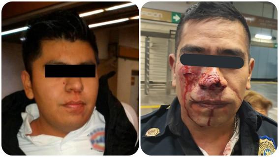 usuario muerde a policia por pedirle que no orine en el metro