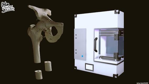 disena unam impresora 3d para replicar huesos con materiales biodegradables