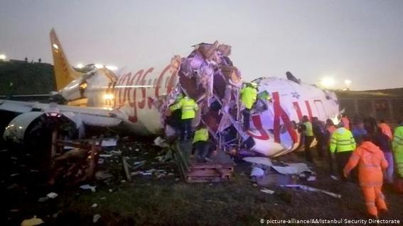 accidente avion turquia estambul