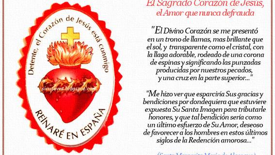 """se trata de una oracion conocida como """"salvaguarda del sagrado corazon"""" que se esta utilizando como una ayuda de los cristianos contra el coronav"""