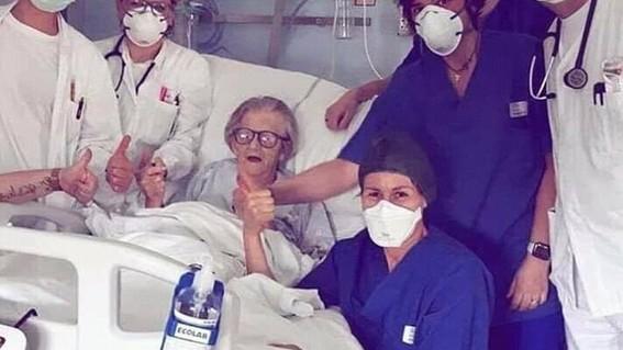 alma clara de 95 anos dio positivo en coronavirus y ha logrado superar la enfermedad convirtiendose en simbolo de resistencia y esperanza para