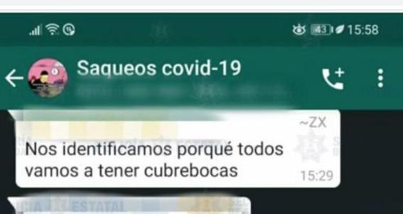 saqueos covid19 ladrones whatsapp aislamiento