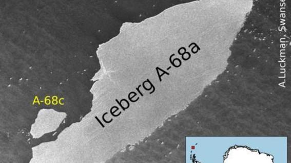 el iceberg se esta moviendo actualmente hacia el norte desde la peninsula antartica