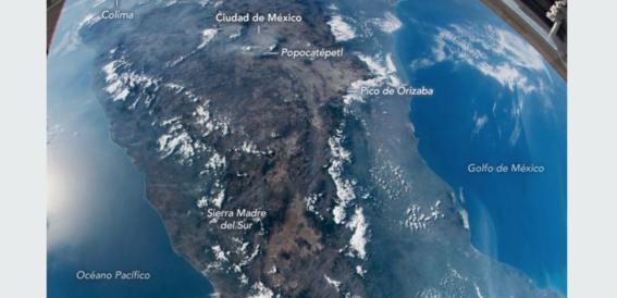 asi se ve mexico desde el espacio en fotografia tomada por la nasa