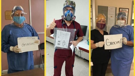 prothesia dona caretas para personal medico que lucha contra coronavirus