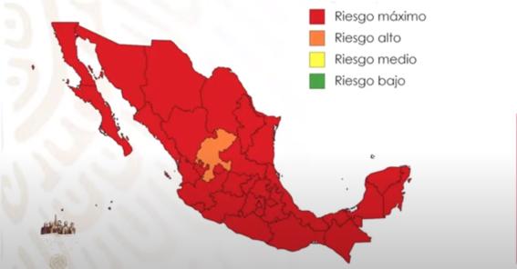 mexico terminara la jornada nacional de sana distancia con el mapa en rojo