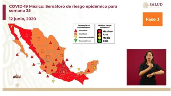 semaforo pasa a color naranja en 16 estados salud