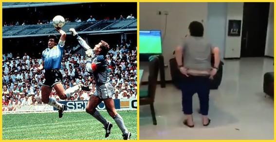 video maradona baila sin pantalones 34 anos despues de la mano de dios