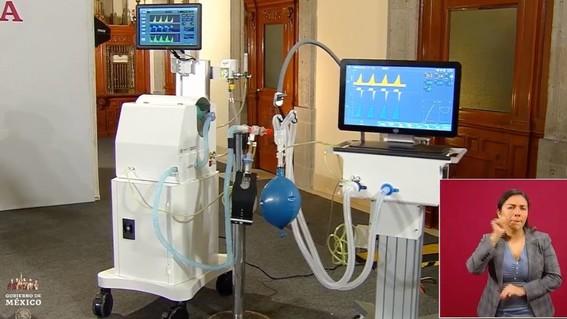 presentan los primeros ventiladores para covid19 hechos en mexico