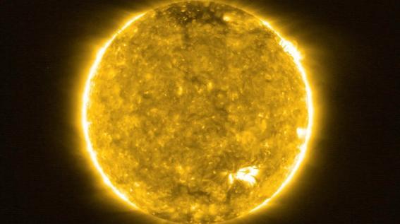 ¿como se ven las hogueras que se encontraron en el sol con el solar orbiter