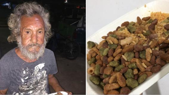 dan arroz croquetas de perro a persona en situacion de calle chetumal