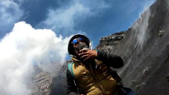 alpinista domo crater popocatepetl