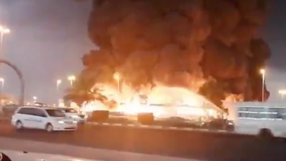 incendio mercado ajman emiratos arabes